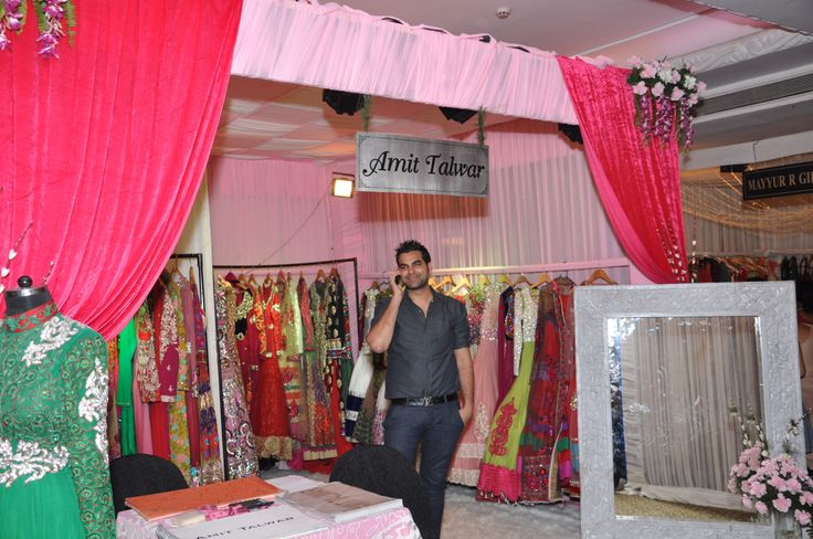 Designer Amit Talwar showcasing his beautiful outfits.