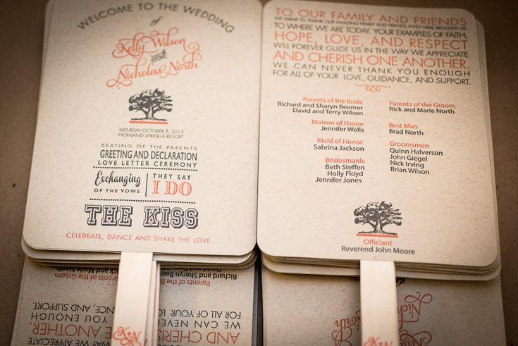 DIY Printable Wedding Program Fan Order of by FossilLetterpress