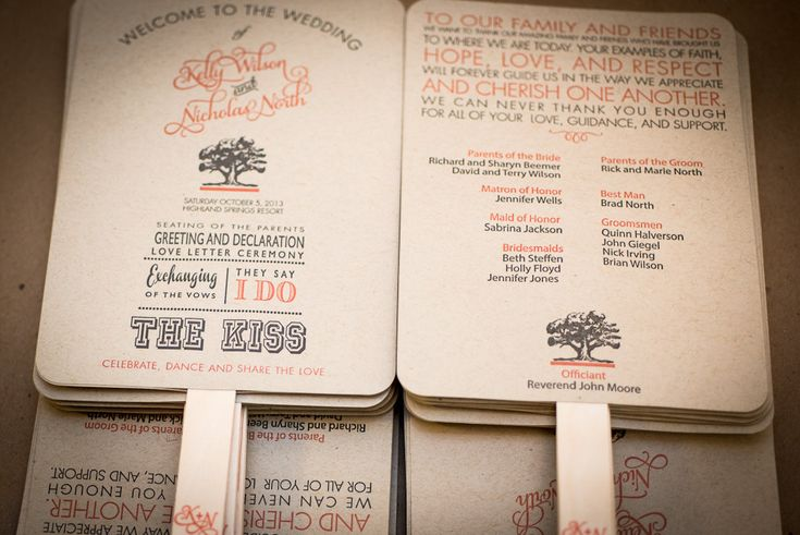 DIY Printable Wedding Program Fan Order of by FossilLetterpress