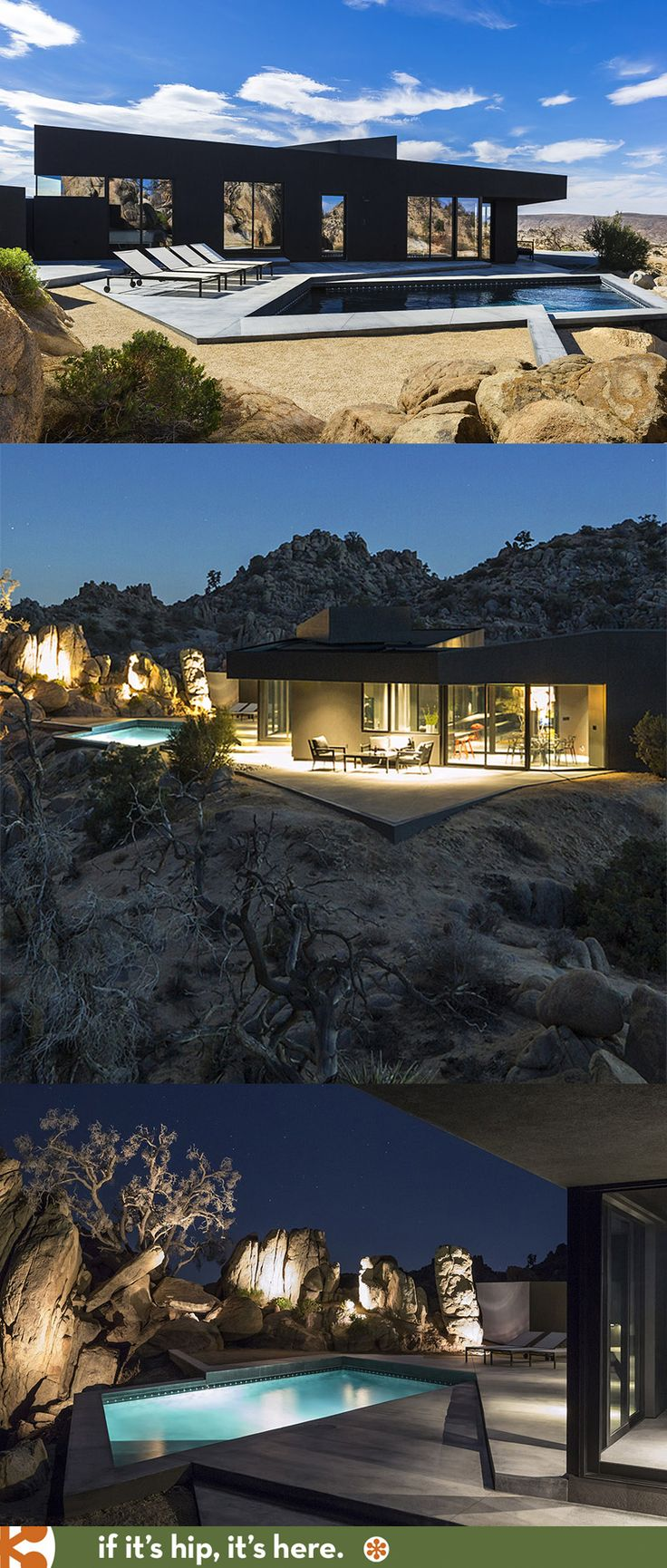 The Black Desert House In the Middle Of Yucca Valley
