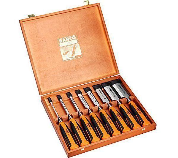 Jeu de ciseaux à bois largeur 6 - 10 - 12 - 16 - 18 - 25 - 32 - 38 mm, bahco