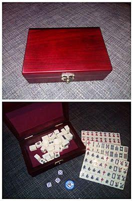 Nimrodel AT´s Foto, Bastel- und Produkttestblog: Mahjong Set...Spielsteine in Holzschatulle