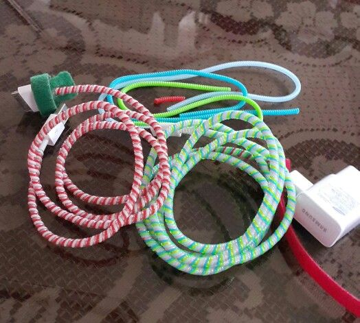 Cord protectors color ideas! Candy cane and Bubblegum!☺