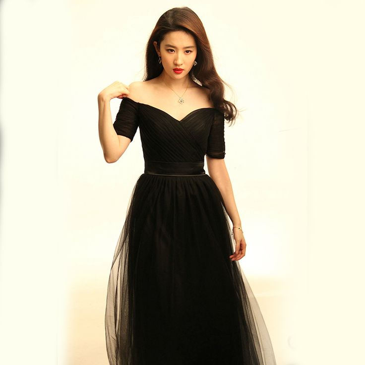 Black Tulle Long Bridesmaid Dresses 2017 New Sweetheart Half Sleeve Fashion Party Dress Under 50$-in Bridesmaid Dresses from Weddings & Events on Aliexpress.com | Alibaba Group