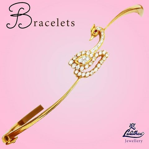 This bracelet is trendy in design and will go well with your casual attire. ‪#‎lalithaajewellery‬ For more collections, click here - http://bit.ly/1Z4DsMb