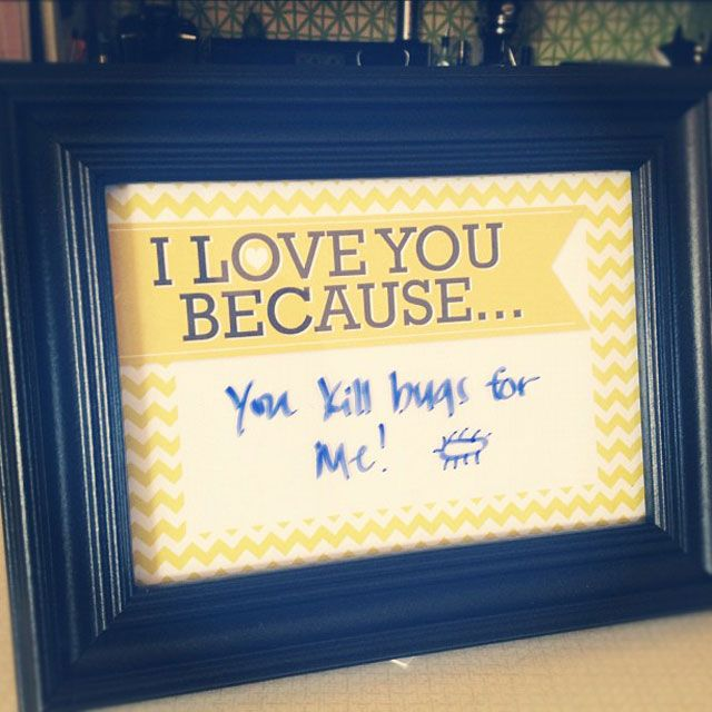 I Love You Because... Frame with Yellow Chevron + a free download of the file to fit a 4x6 frame