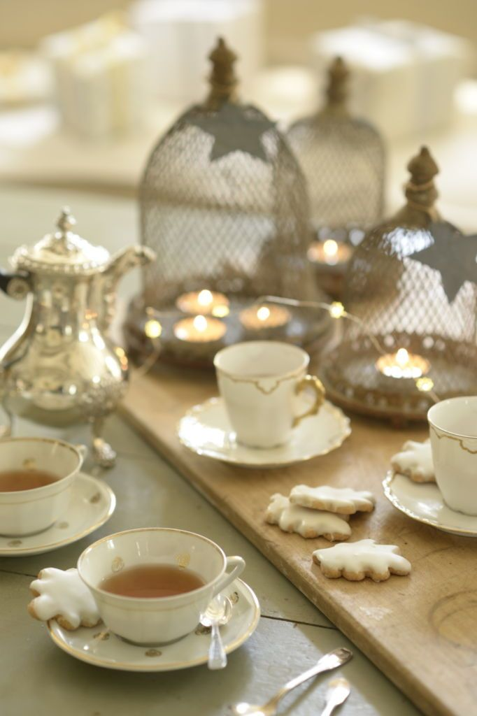 tea time on a festive table