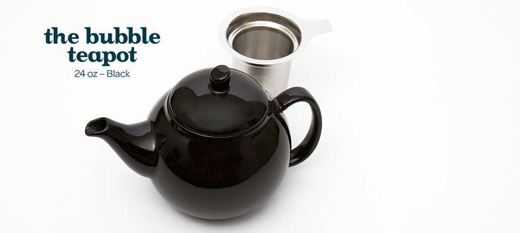 black bubble teapot (24oz) by DavidsTea