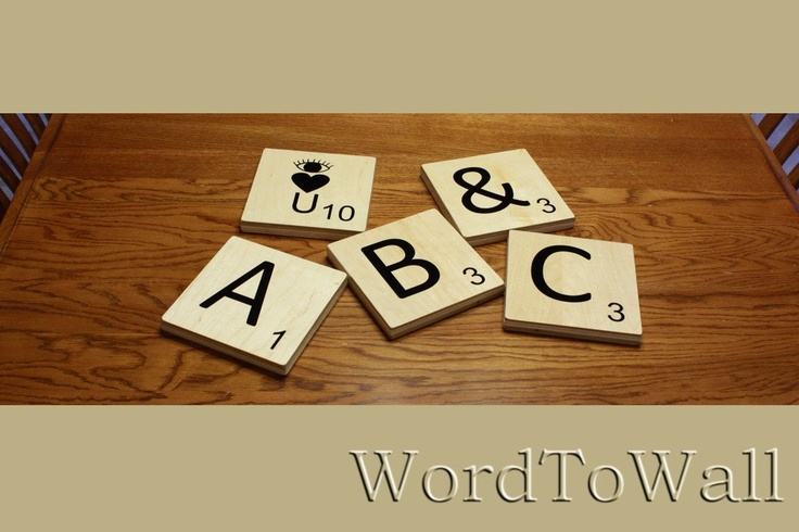 Scrabble Letter inspired Wall Art, nursery letter
