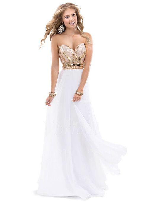 robes de soir e forme princesse sans bretelles