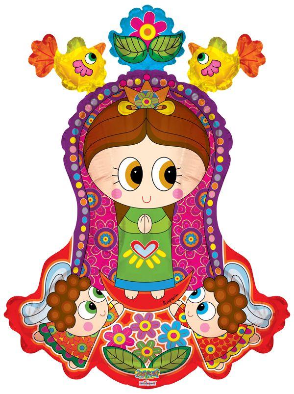 "Virgencita distroller con angelitos 28"" Globo, COD: V2734728, UPC Code: 742554276530, Venta En Linea, Mayoreo Globos, Metálicos/Mylar/Metalizados, SuperShape, México. Teleglobos.com"