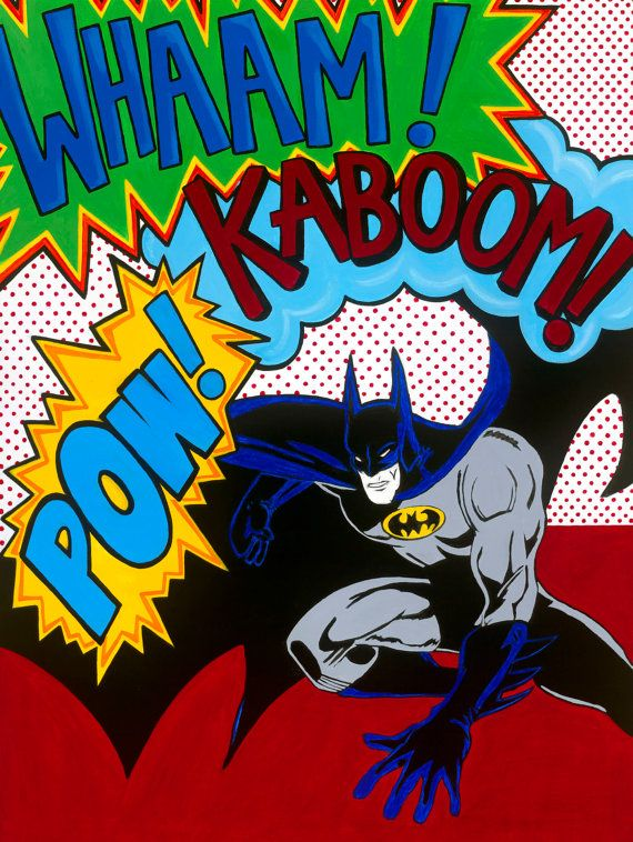 Batman Pop art print 8x10 by artloveandkids on Etsy, $20.00