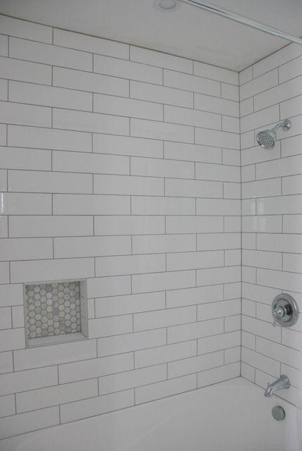 Shower Design Subway Tile And Marble Tile Niche Tile