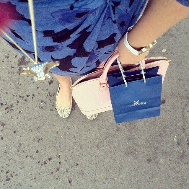 Blue, outfit, Marcha, ballerina, bag, elephant, necklace, swarovski