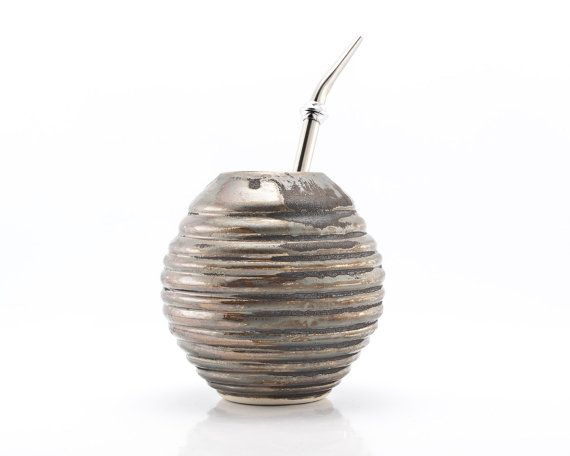 Hey, I found this really awesome Etsy listing at https://www.etsy.com/listing/78721152/yerba-mate-ceramic-gourd-in-rust