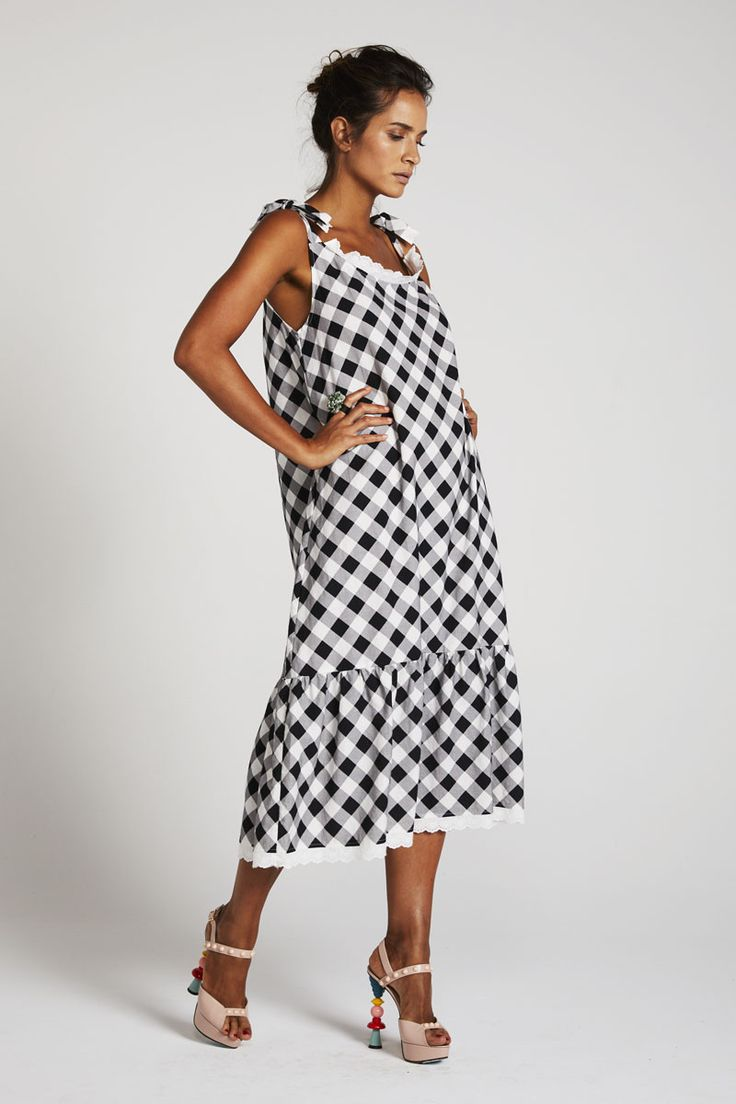 Binny - Globo Biscuits Sundress In Gingham