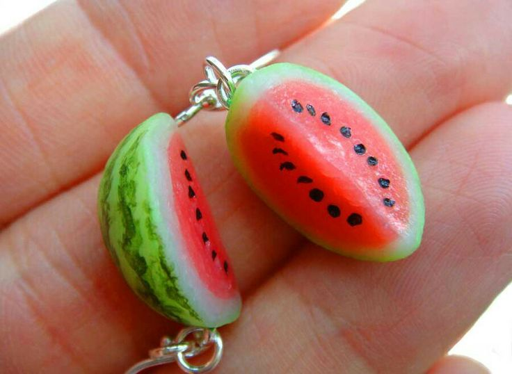 Polyclay watermelon charms