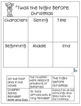 'Twas the Night Before Christmas...Literacy Activities