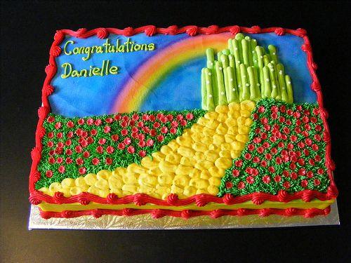 Wizard Of Oz Shower Cake Wizard Of Oz Party City Cake Cake