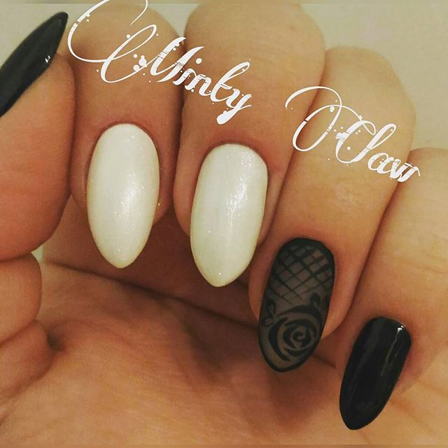 #nails #paznokcie #manicure #instanails #mintyclaw #nailstoinspire #indigo #sheerblacknails #hybridnails #hybrydy #lacenails #naturalnails