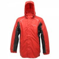 £28.99 -  Regatta Mens Polaris Jacket Pepper  A packable Isolite waterproof and breathable rainshell with sporty stencil trim. Ideal for active outdoor use this summer. Waterproof and breathable Isolite lightweight polyester fabric. Taped seams. Mesh lined. Concealed hood with adjuster. Adjustable cuffs. Adjustable shockcord hem. Packaway - inner pocket coverts into a bag.