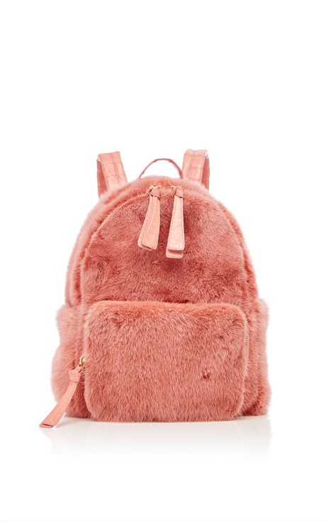 Baby Pink Mink Backpack by Nancy Gonzalez for Preorder on Moda Operandi