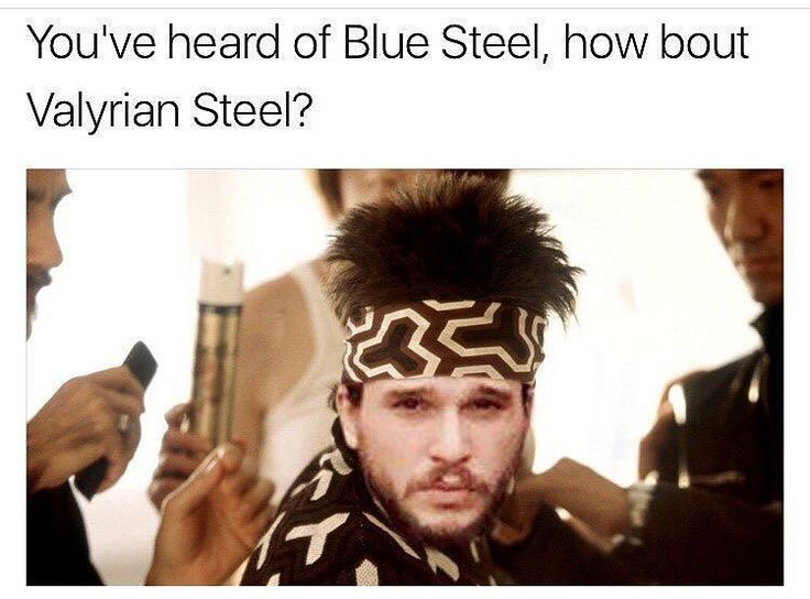 Well this is just fantastic. And I'm done internetting for the day. #GameofThrones #JonSnow #Zoolander #BlueSteel #ValyrianSteel #GoTs7 #Snowlander