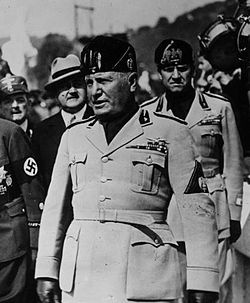 Benito Mussolini: (29 July 1883 – 28 April 1945) 40th Prime Minister of Italy. Bros with Hitler. Used the title Il Duce.