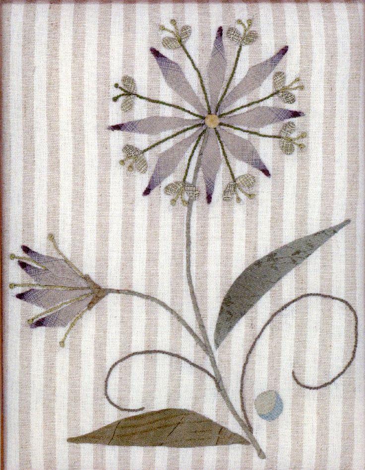 Diseño de apliques y Kit de bordado escandinavo flor14 de