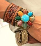 Bohemian Cowgirl Cuff Bracelet