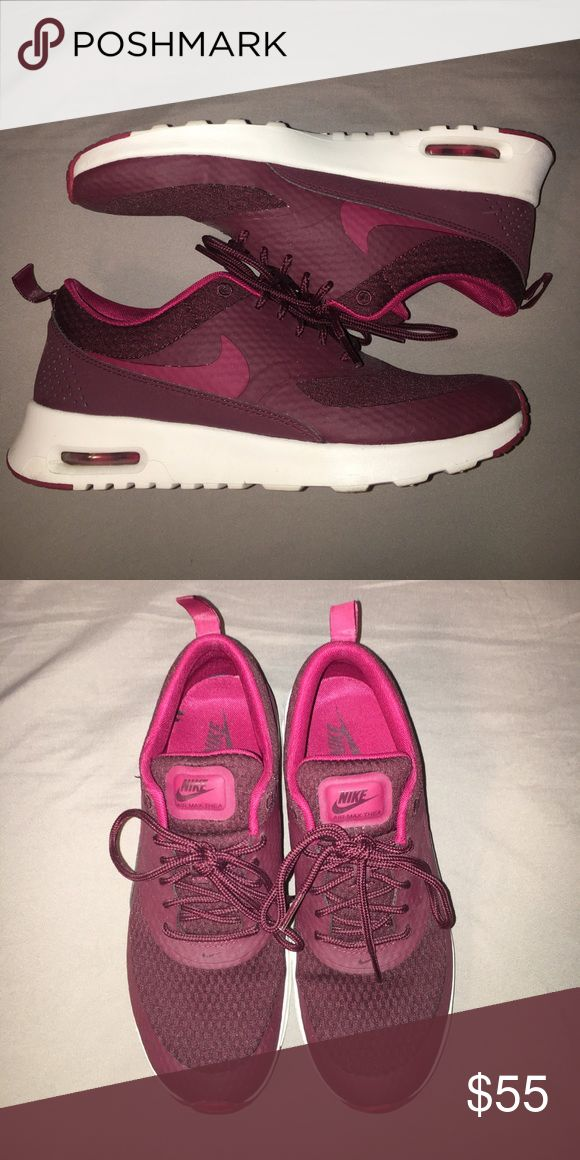 Nike Air Max Thea Great burgundy Nikes in great condition! Nike Shoes Athletic Shoes