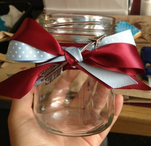 Simple Pi Phi Jar w/ Beautiful Arrow