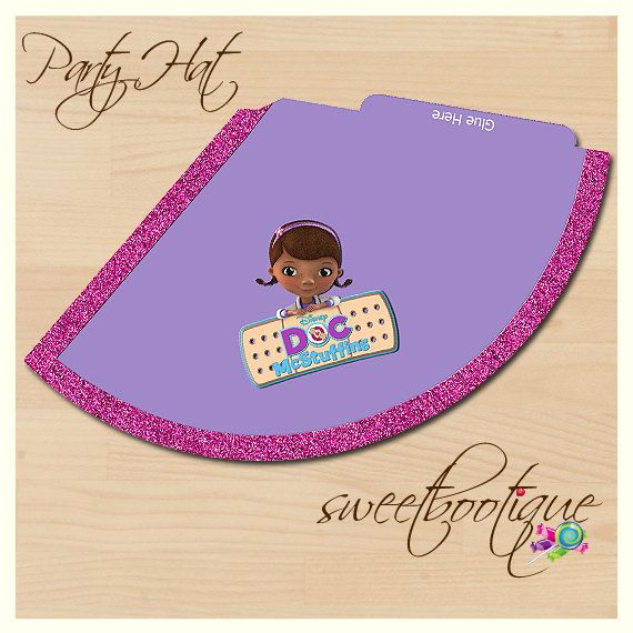 Doc McStuffins Style Party Hat Birthday Party or by SweetBootique
