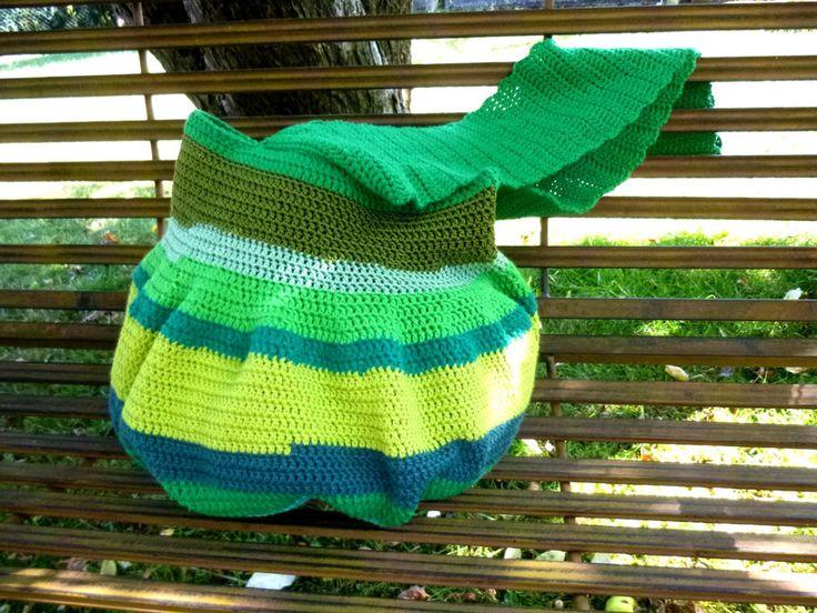 Tasche Greenie XL Boho  Beutel Shopper Hippie Stil von WerkstattAmGrossenApfelbaum auf DaWanda.com