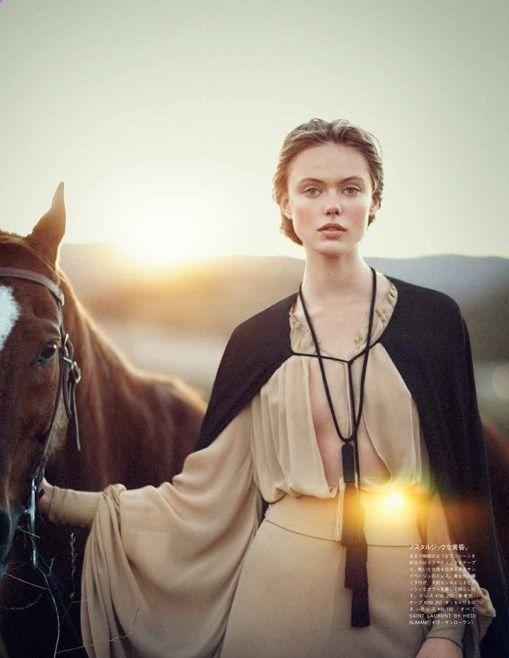 Vogue Japan | Editorial de Moda Junho 2013 | Frida Gustavsson por Boo George @Matty Chuah Goat Shearing