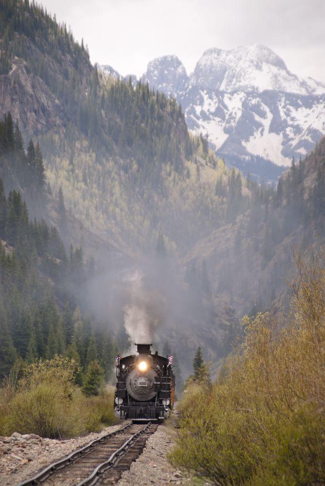 Durango Train, Colorado The Narrow Gauge Train Trip from Durango to Silverton & return. A gorgeous trip...