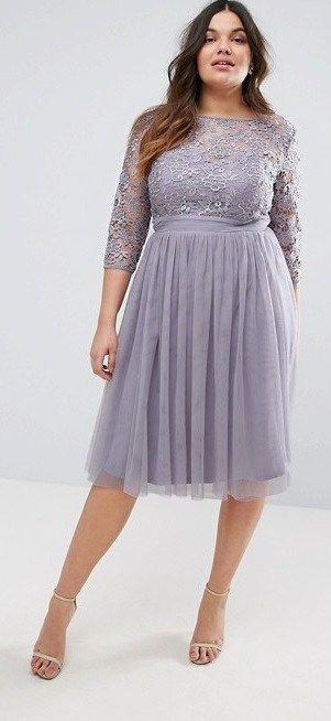 36 Plus Size Wedding Guest Dresses {with Sleeves} - Plus Size Cocktail Dresses - alexawebb.com