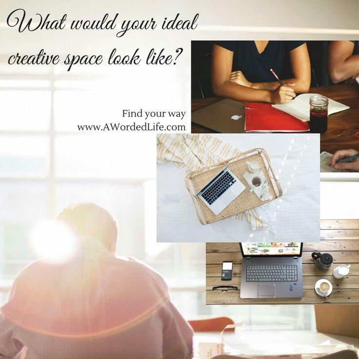 Dreaming of an ideal creative space. Www.AWordedLife.com  #creativelifehappylife #creativespace