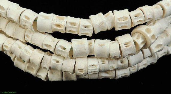 Fish Vertebrae Bone Beads African 74065