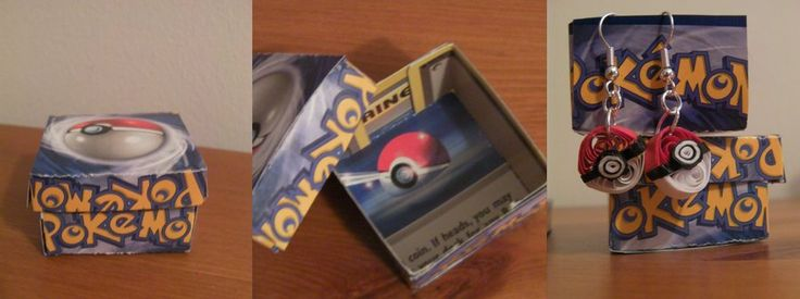 Recycled Pokemon card boxes