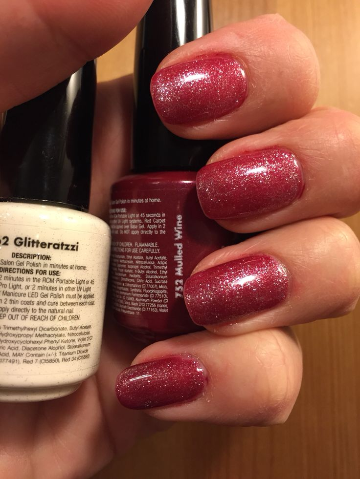Red Carpet Manicure Mulled Wine And Glitteratzzi Rcm Red Glitter Nails