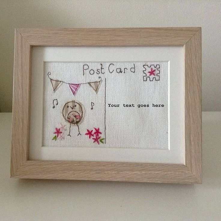Embroidered Post Card Picture