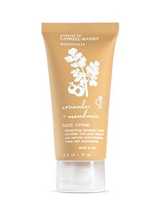 Caswell Massey Botanicals Mandarin & Coriander Hand Creme — Giftwerks For hands that look bright and feel fabulously soft and smooth. Formulated with an exclusive blend of plant extracts, essential oils and natural antioxidants that deliver deep hydration and protection. Yuzu Extract: brightens, tones and gently breaks down dead skin cells Mirabella Plum Oil: provides deep hydration with Vitamin E Made in America. Fragrance: Effervescent Mandarin intertwines with warm Coriander