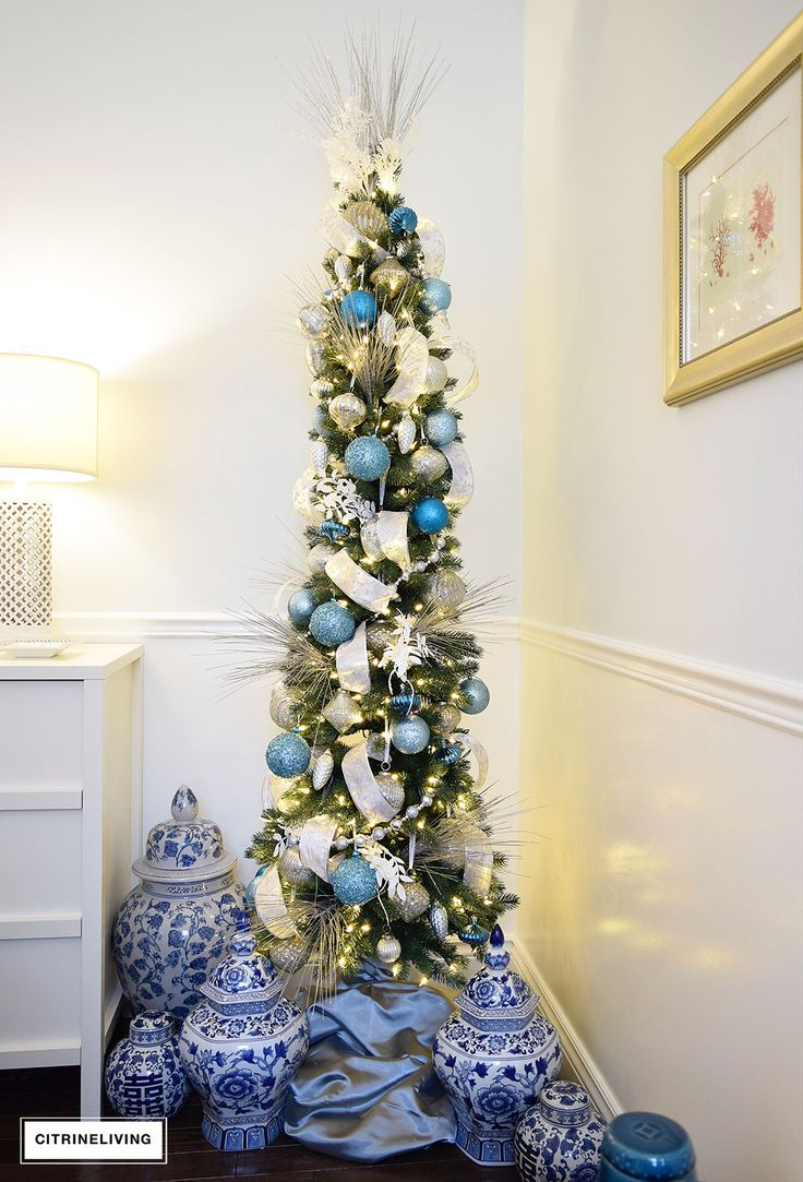 I'm sharing how I've styled two beautiful Sonama Pencil Christmas Trees this holiday season from Balsam Hill featuring their beautiful ornament collection.