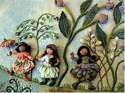 Fabric relief artist Sally Mavor