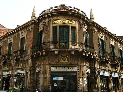 Garage Musmeci by Architect Francesco Fichera  | Art Nouveau architecture in Piazza Bovio in Catania, Sicily