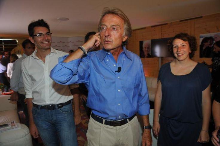 Luca Cordero di Montezemolo with Disco collar