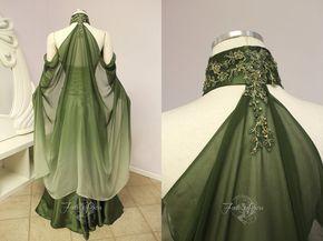elvish wedding dress back