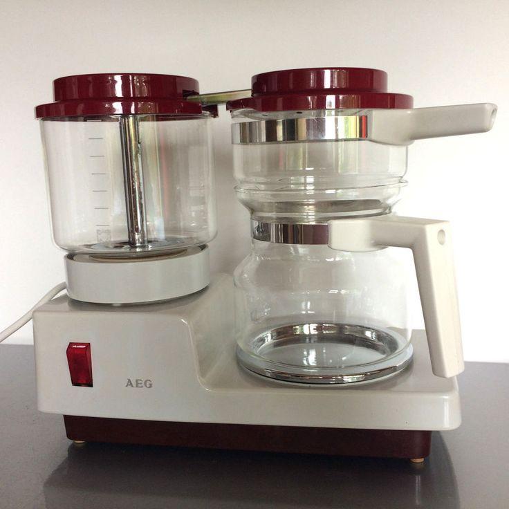 (a84) AEG Kaffeemaschine Typ KF 613361100 60er 70er elektr. mit Kanne mit Filter