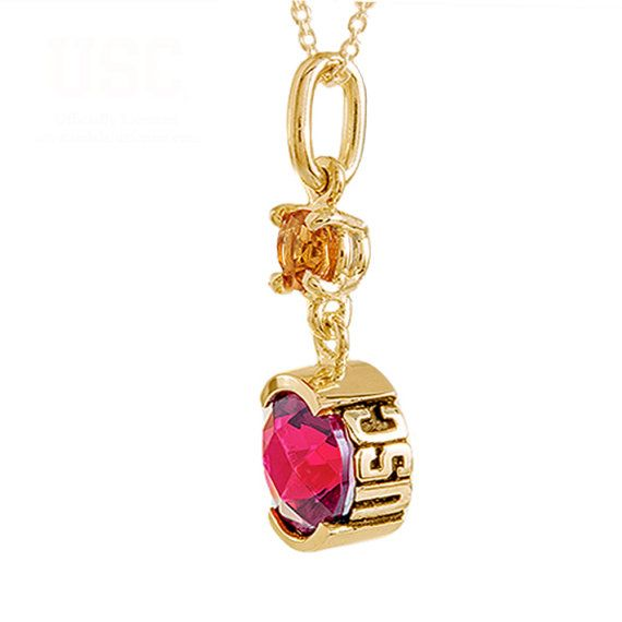 USC Trojans 14kt Gold Pendant Red University Southern Beautiful USC Collection Trojans Solid 14kt Gold Red Round University Southern #Gold #USC #Trojans #Red #Unique #Desing #Perfect #Present #Gift #Ring
